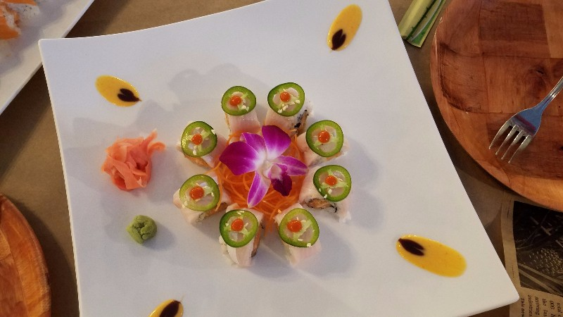 Sushi topped with Jalapeno 2